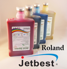 Roland Soljet Pro2 & Pro 3 Eco Max Colour Matched Type ink LIGHT CYAN(2x500ml)